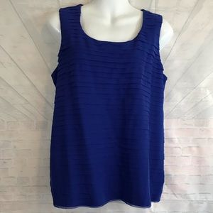 Chico's Women Size 1 Tank layered tiered top